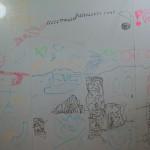壁全面 お絵かき キッズルーム