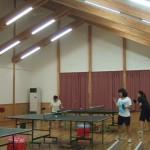 卓球合宿 姫木コミュニティーセンター