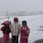 三姉妹とスキー スキーレッスン