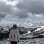 さくらちゃん ブランシュたかやま山頂にて スキーレッスン