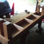 木製ベンチ DIY