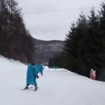 修学旅行生 雨でもスキーレッスンです