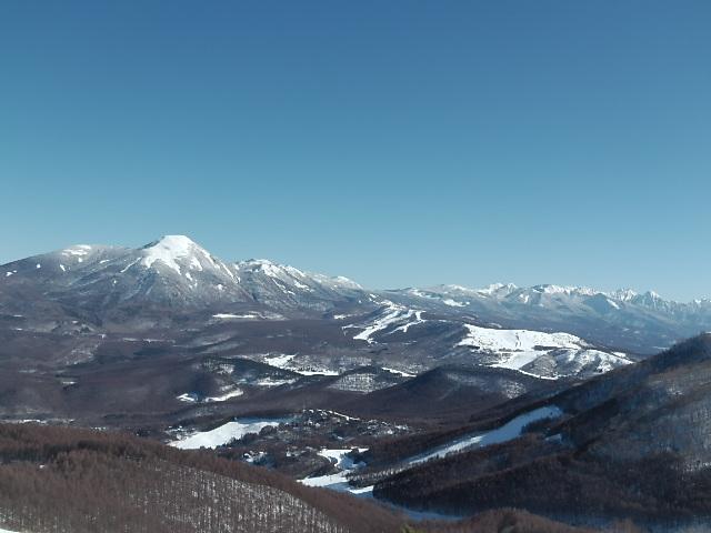 ブランシュたかやま山頂景色