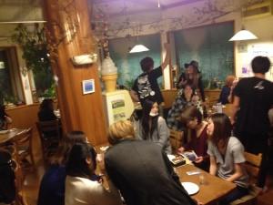 長野お泊まりライブ 夕食訪問