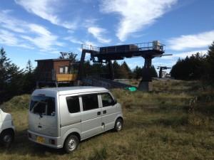 姫木平ハイキングコース道標