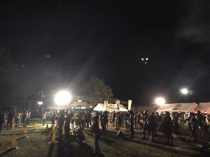 美ヶ原トレイルラン2018 後夜祭 花火を見る人