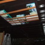デッキ下 天井の収納