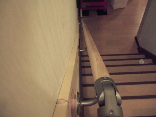階段手すり DIY 壁が曲がってる