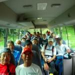 東海マラニッククラブ サマ-イン・白樺湖合宿 マイクロバス車内