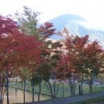 女神湖 紅葉