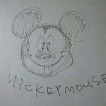 お絵かきキッズルームの絵 ミッキー