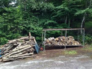 単管 薪棚作り