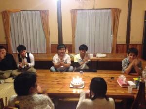 誕生ケーキでお祝い