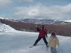 無料スキーレッスン こうき君 ゆうちゃん