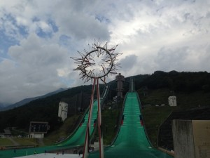 白馬国際トレイルラン2015 ジャンプ台