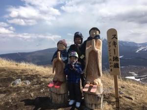 ブランシュたかやま山頂 スキー地蔵