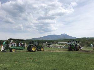 長門牧場祭 トラクター乗車