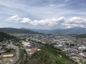 丸子城 二の郭 上田方面