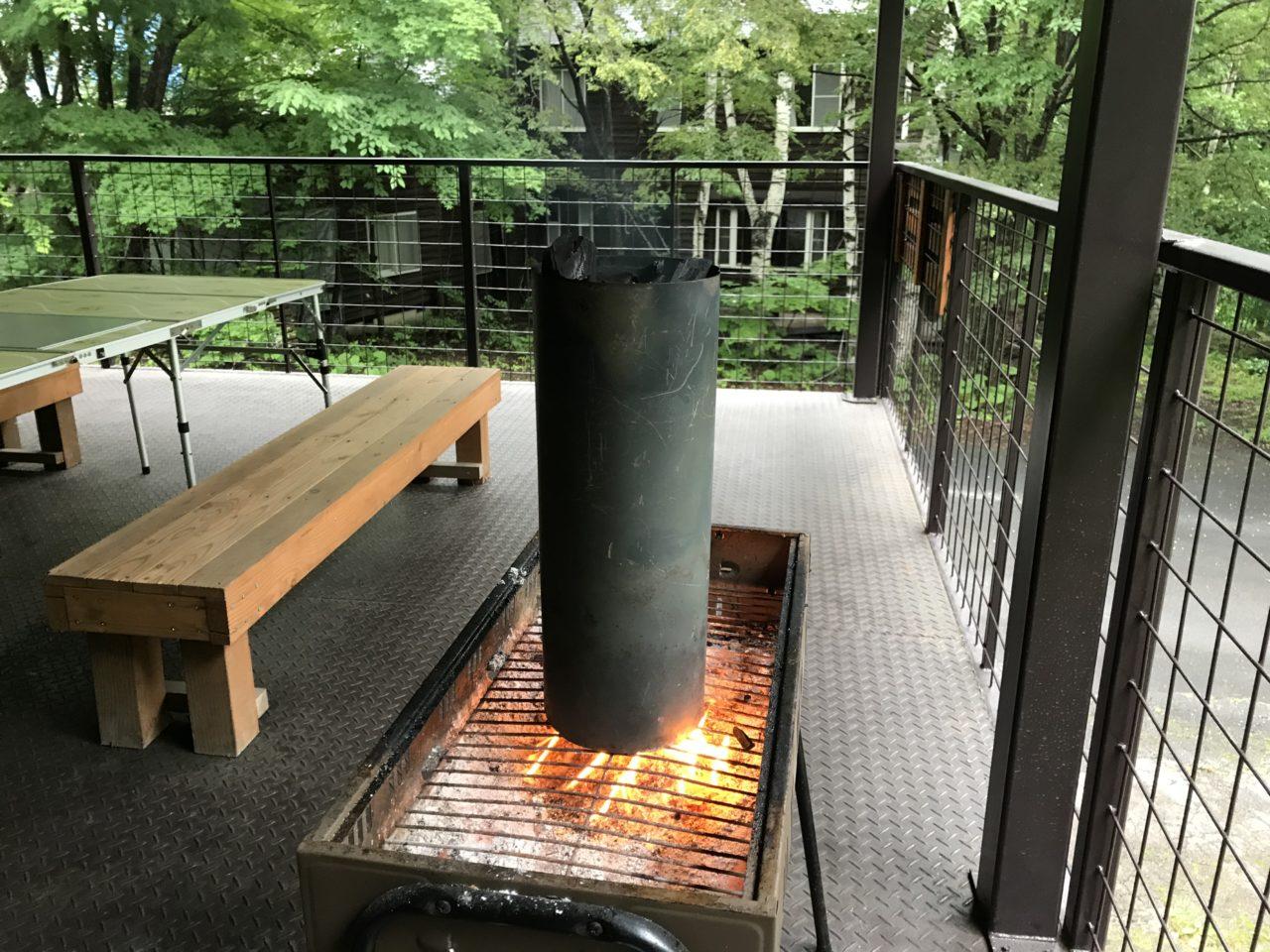 炭 火おこし BBQ 煙突