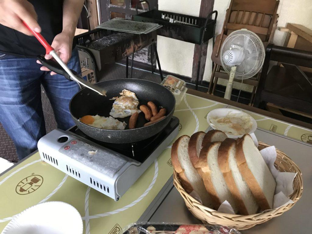 朝食を自前で調理