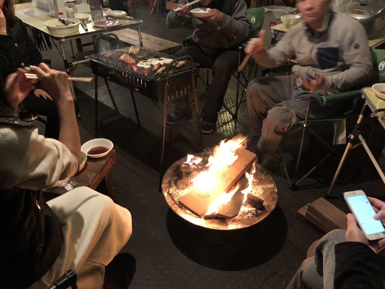 焚き火 BBQ