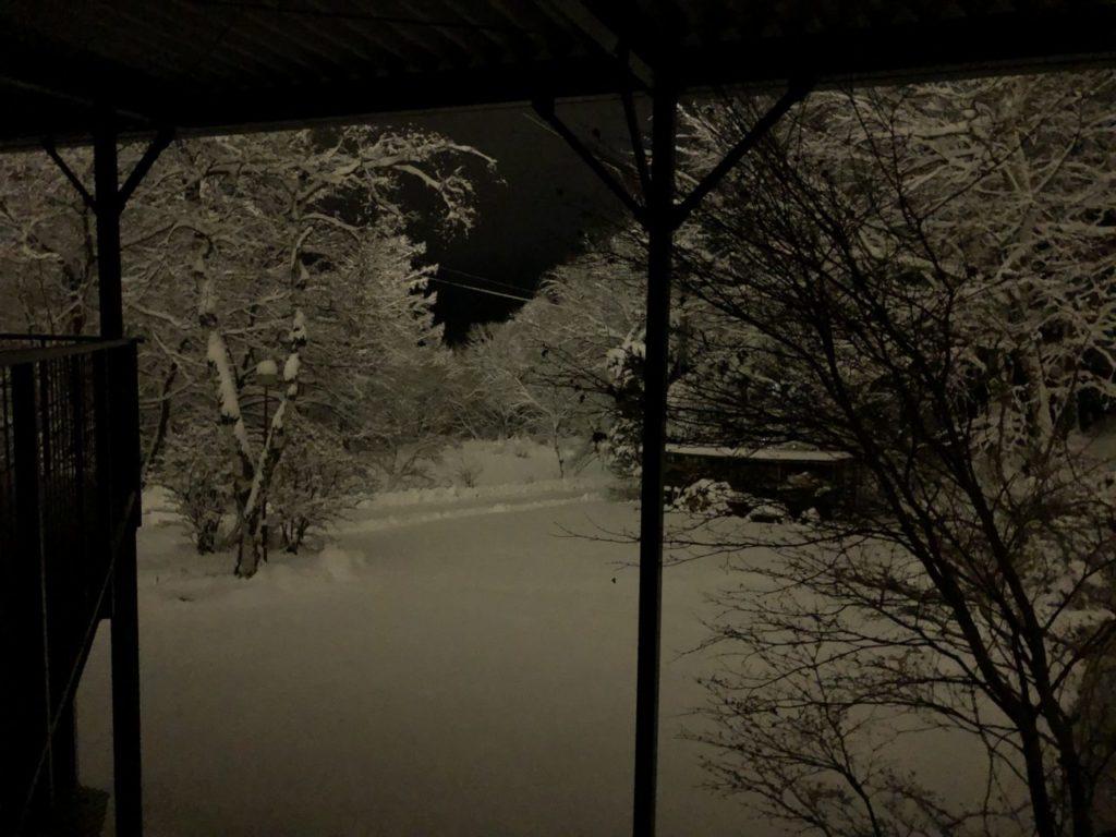 12-3cm積雪