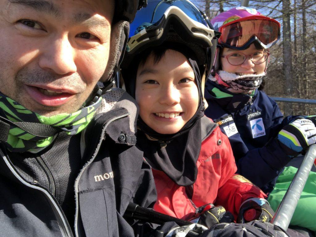 スキー1・2級の姉弟