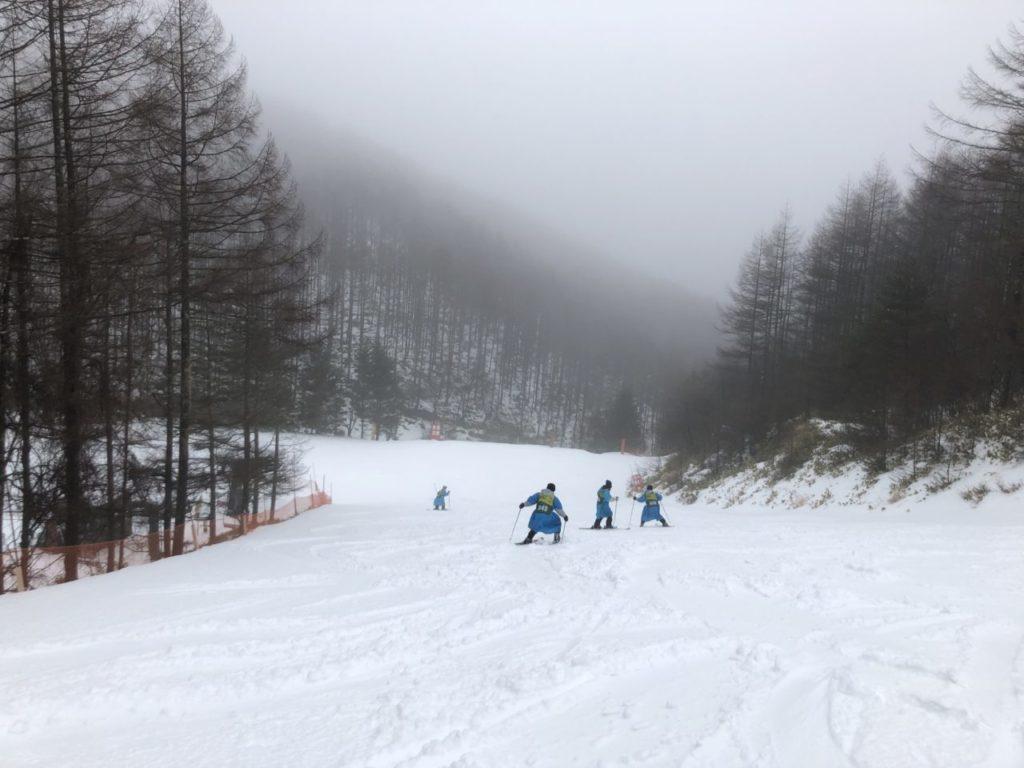 ブランシュたかやま スキー教室 雨