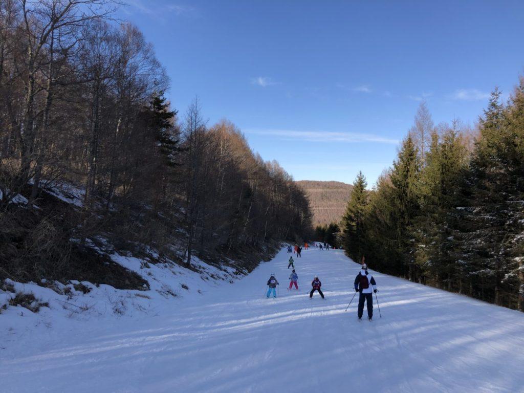 地元小学生のスキー教室 ブランシュたかやま
