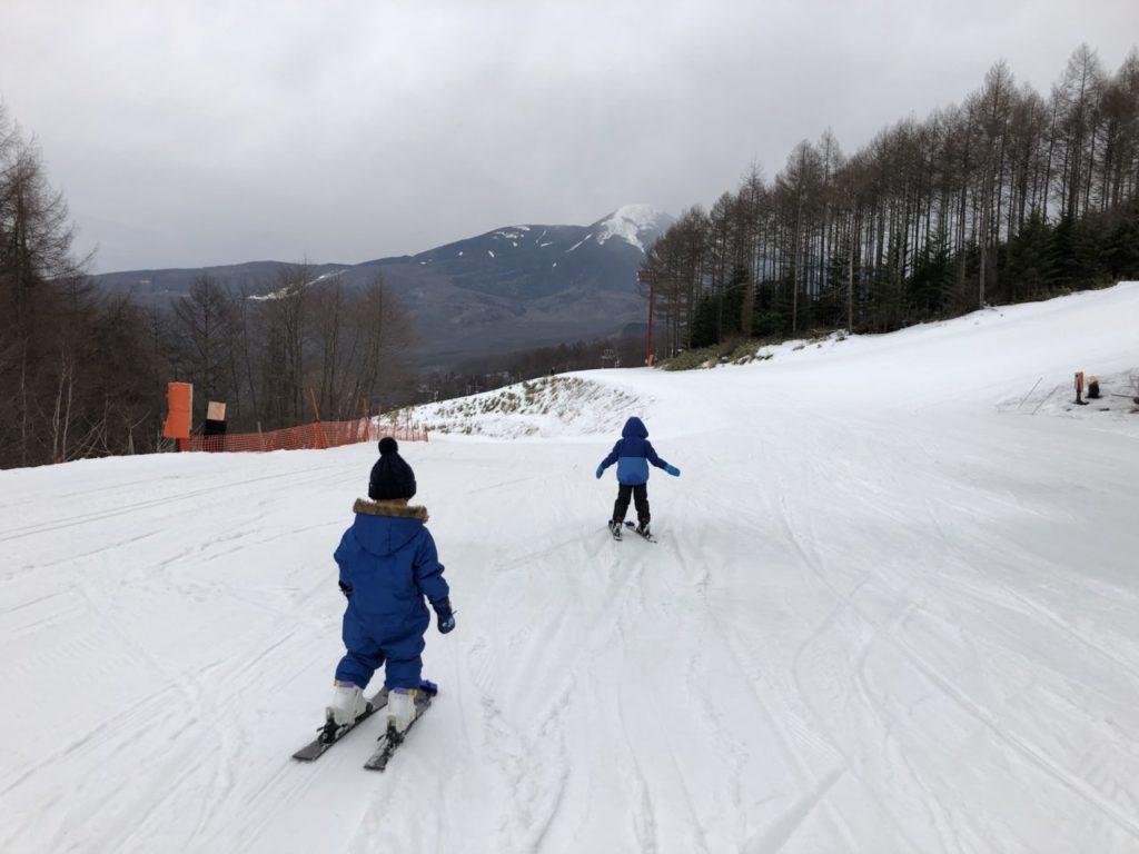 エコーバレースキースクール レッスン スキー初めて兄弟