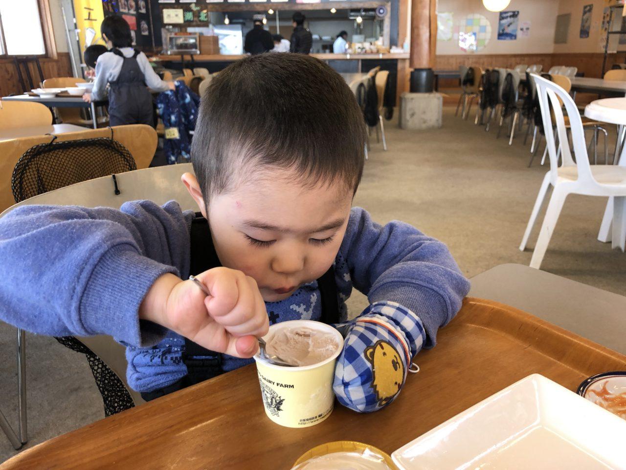 4才児 スキー3回目 ブランシュたかやま ポテトとアイス