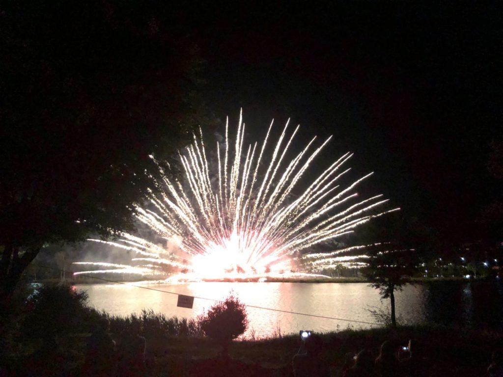 白樺湖の花火