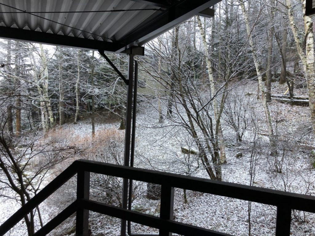 うっすら白く 初雪2020