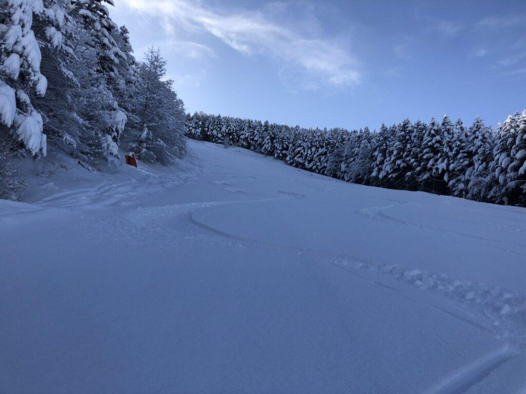 ブランシュたかやま ジャイアントコース新雪