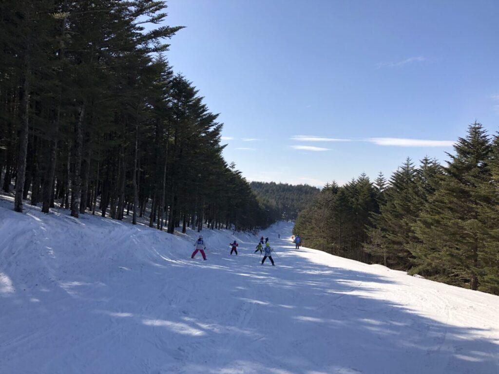 長門ジュニア 地元小学生のスキー教室