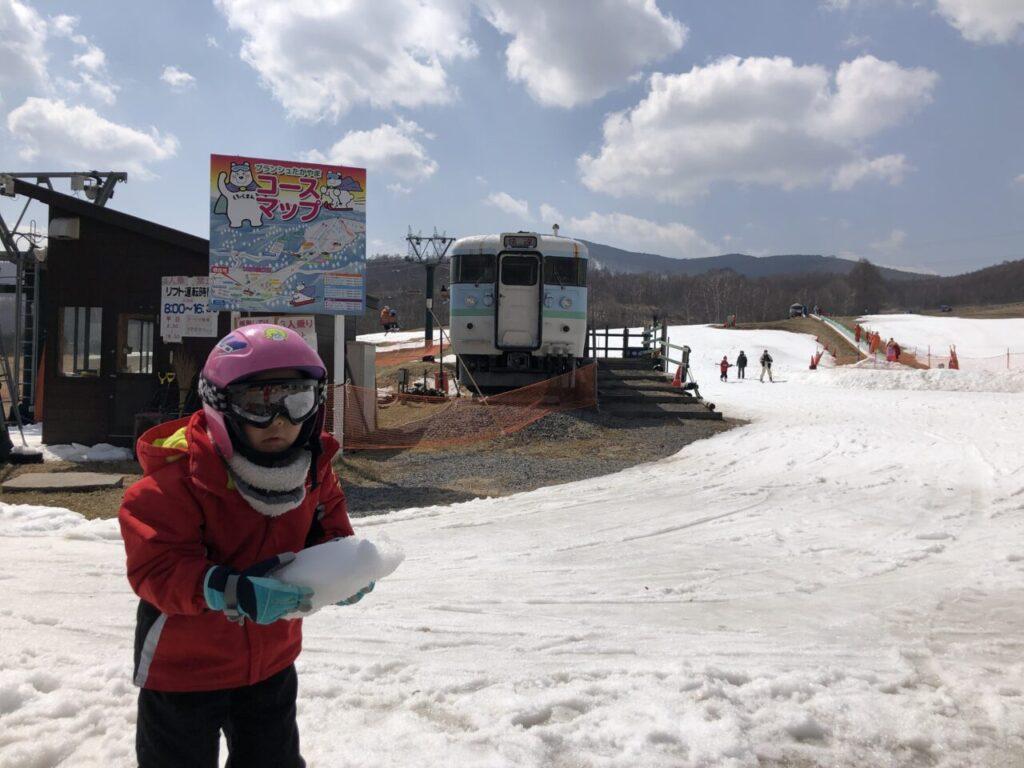 5才息子 スキー6回目 ブランシュたかやま