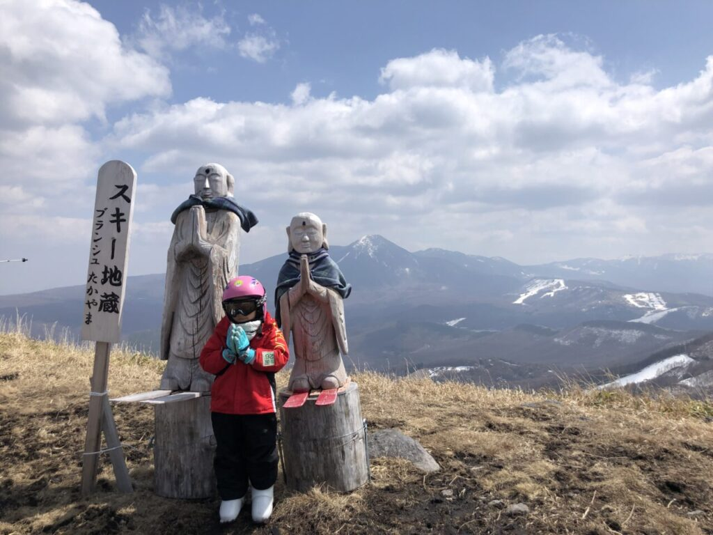 5才息子 スキー6回目 ブランシュたかやま山頂へ