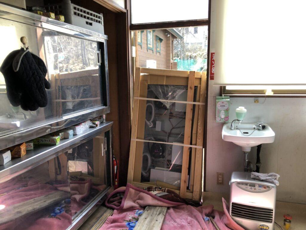業務用冷凍冷蔵庫 自分で搬入