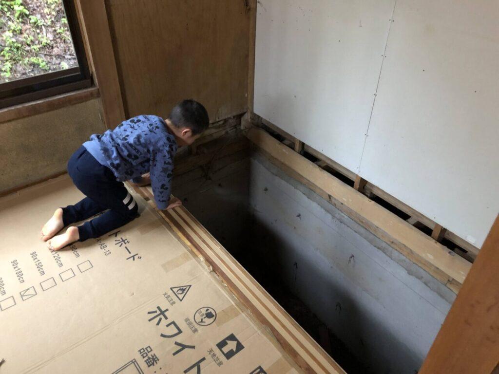 和室の改装 DIY 押入れ・納戸を洗面・トイレに
