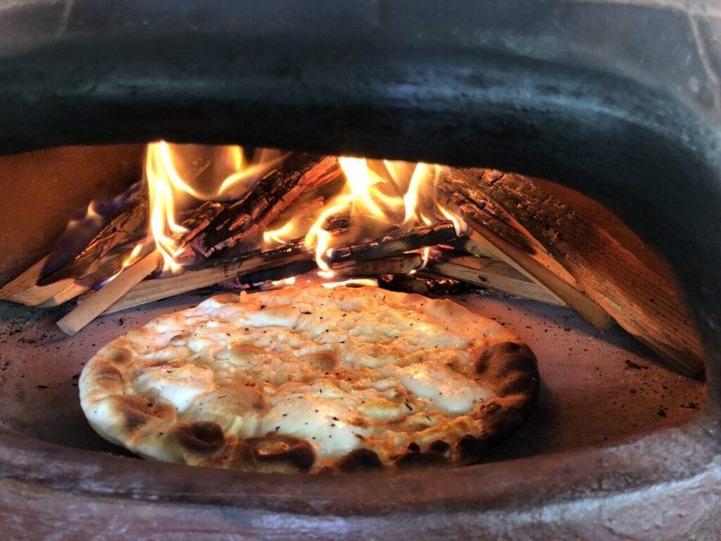 ピザ窯 BBQスペースに設置